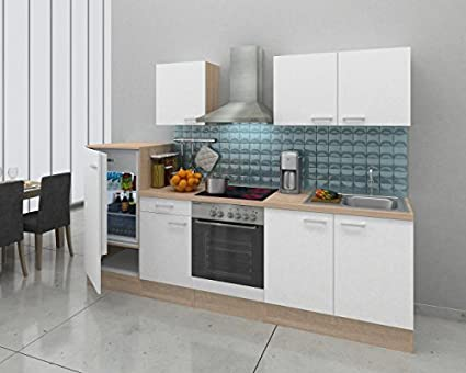 RESPEKTA incasso cucina angolo cucina BLOCCO CUCINA 270 cm Rovere ...