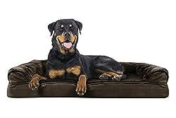 Furhaven Pet Orthopedic Sofa Pet Bed, Jumbo, Espresso