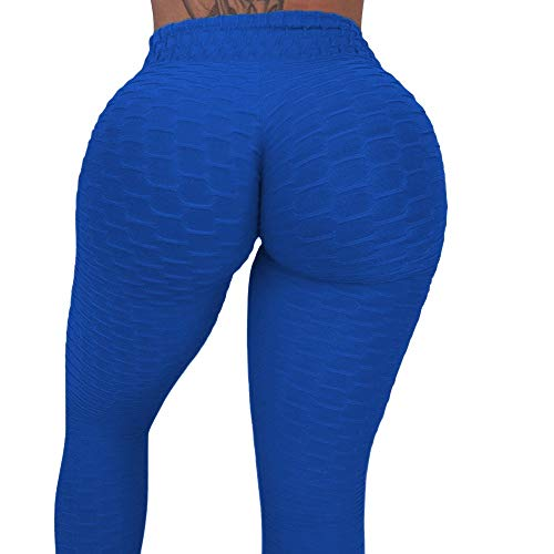 Ruched Leg Pant - CROSS1946 Women's High Waist Booty Ruched Textured Legging Butt Lift Yoga Pants Skinny Workout Stretch Capris S