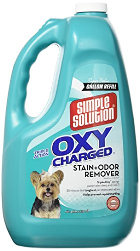 Simple Solution Oxy Charged Pet Stain and Odor Remover, Made in - Poop Removal Stain