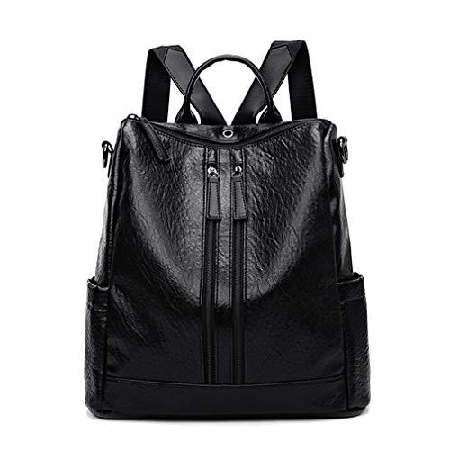 Pu Bag Women Backpacks Upgrade For Black Female Leather Fashion Shoulder Daypack Backpack dSPzAPwIq