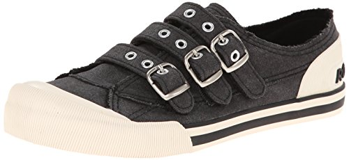 Rocket Dog Women's Jolissa Aviator Canvas Fashion Sneaker, Black, 10 M US (Slip Rocket On)