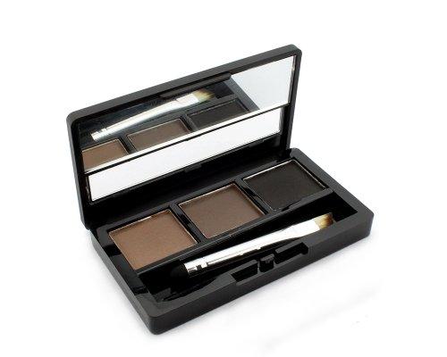 3 Farben Augenbraue Powder Palette Eye Braue mit Pinsel und Spiegel Makeup Set Kit