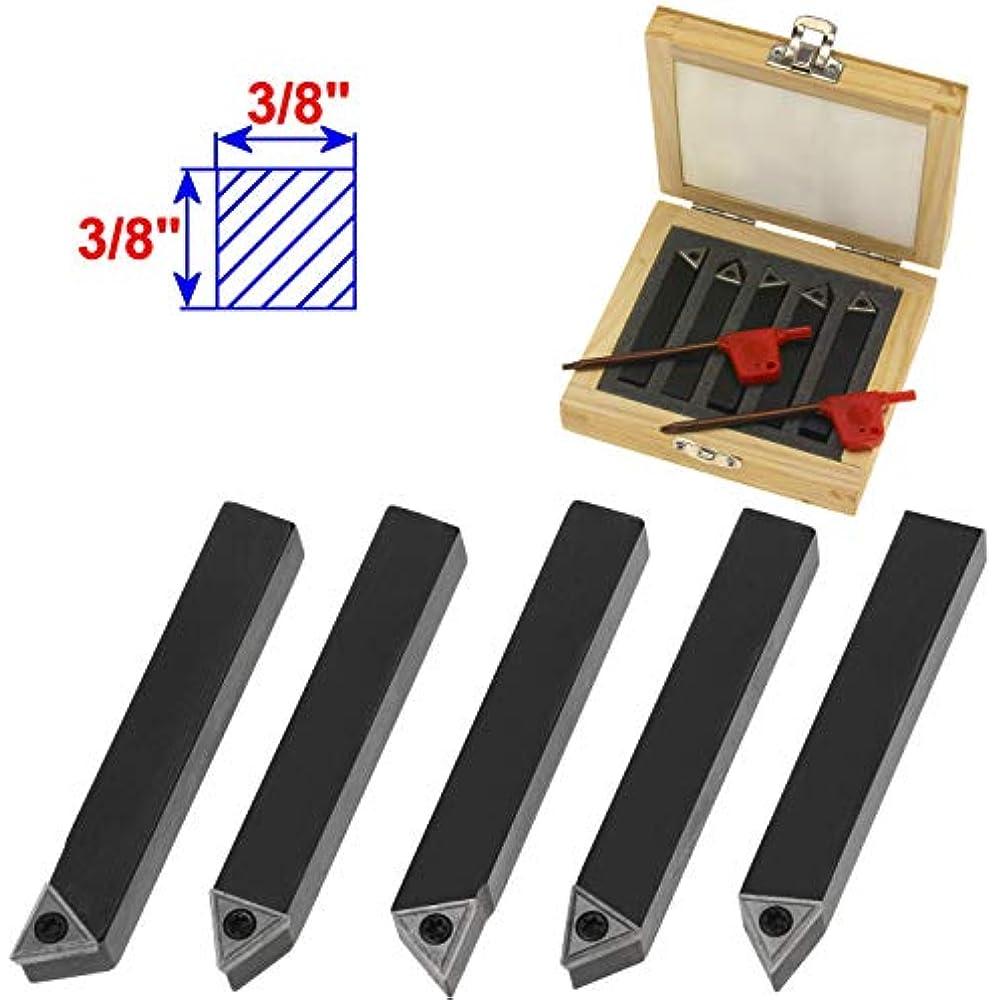 10 Pc Indexable Carbide AG60 Insert Tool Bit /& SNR0013M16 Holder Mini Lathe Set