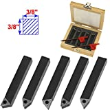 Anytime Tools 5 Piece 3/8'' MINI LATHE INDEXABLE CARBIDE INSERT TOOL BIT SET