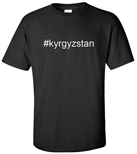 Gildan Hashtag  Kyrgyzstan Mens T Shirt Black Xx Large