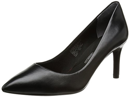 Rockport Damen Total Motion Pointy Toe Pump Pumps Schwarz (BLACK LEA)