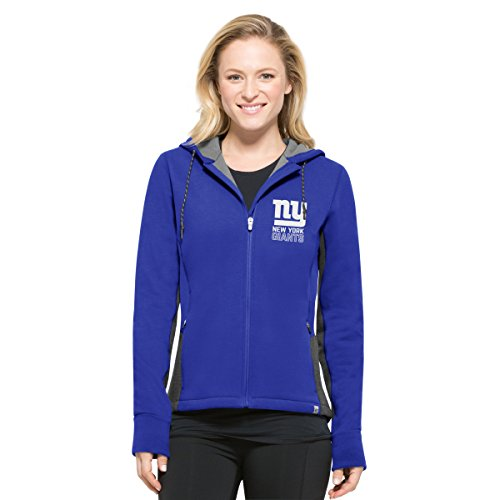 - '47 NFL New York Giants Women's Compete Full-Zip Hood, Booster Blue, Large
