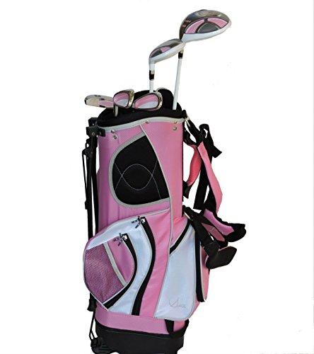 Sephlin - Lady Jayde Pink Girls Golf Club Set & Golf Bag Ages 6-10 Left Handed 5 Pieces Golf ()
