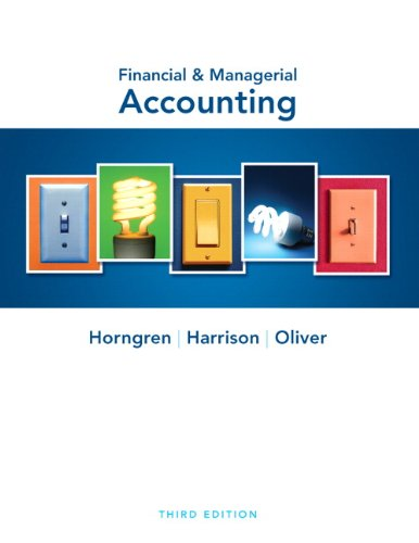Financial   Managerial Accounting  3Rd Edition