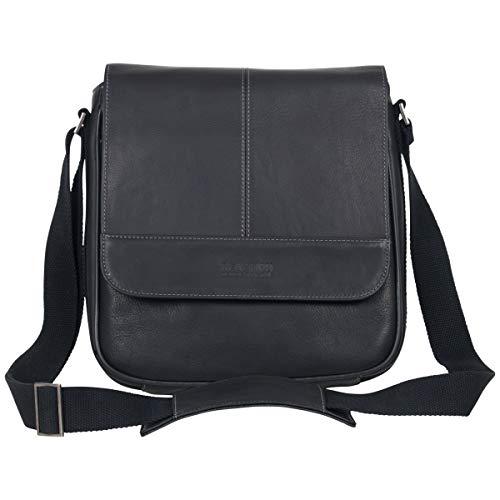 Kenneth Cole Reaction Manhattan Full-Grain Colombian Leather Anti-Theft RFID Crossbody Tablet Bag