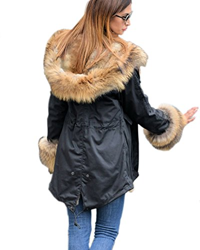 Roiii Winter Black Coat 14 Long Parka Thick Jacket Women 8 18 Size Hoodies 201701 Cardigan Plus XZfYFqwXr