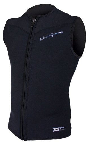 NeoSport Men's 2.5-mm XSPAN Vest (Black, Large) - Water Sports, Diving & -