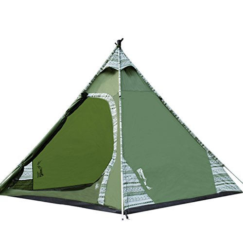 brand new 15937 22f0a DEEKO 2-3 Person Teepee Tents Waterproof Lightweight Tents Easy Setup for  Camping Backyard Kids Outdoor Play Tents with Carry Bag