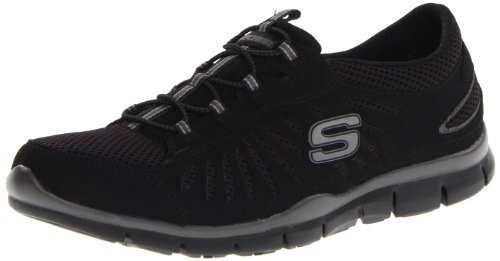 Skechers Sport Damen Gratis-In Motion Fashion Sneaker Große Idee Schwarz