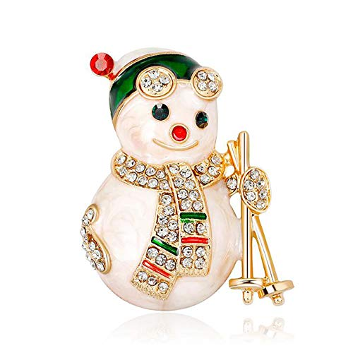 - Jewelry Christmas Brooch Pins Set Holiday Brooch Christmas Tree Snowman Xmas Pin Lot Party Favor Christmas Brooch Pin Set Gifts (Christmas Snowman 2)