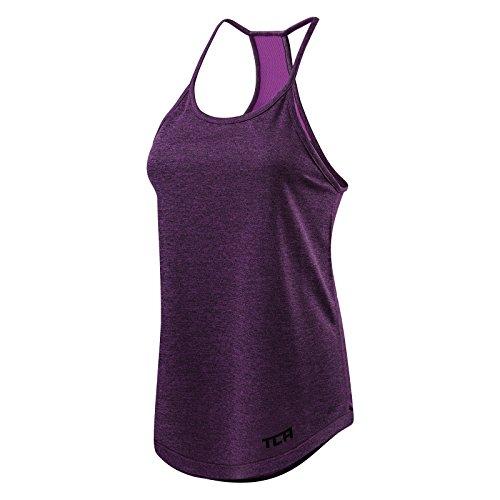 - TCA Women's Switch-Up Reversible Workout Tank Sleeveless Vest Top - Jewel M