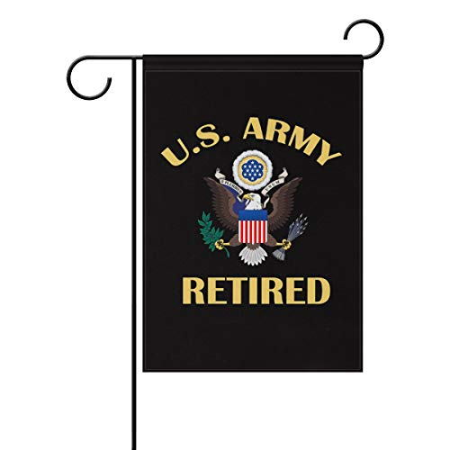- poeticcity US Army Retired Home Decorative Outdoor Two-Sided Garden Flag 12