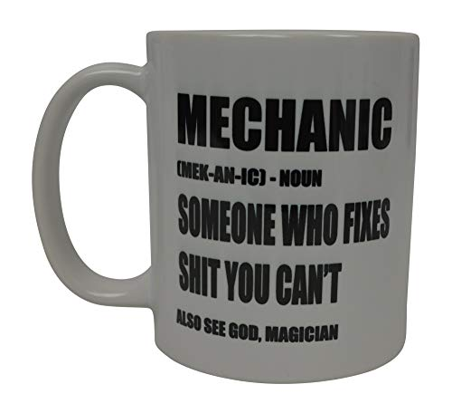 Funny Best Mechanic Coffee Mug Novelty Cup Gift Idea Repair Shop Garage Meaning Joke