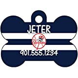 MLB Team Dog Tag Pet Id Tag Personalized w/ Name & Number (New York Yankees)