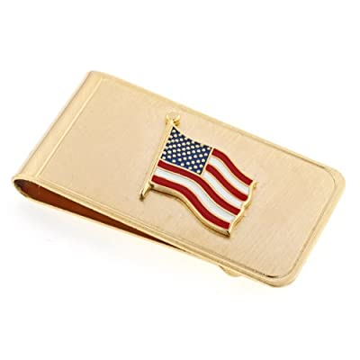 JJ Weston American Flag Money Clip. Made in the USA.