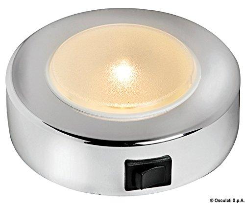 Osculati Batsystem White ABS External 10 LED SMD Sun Spotlight 8/30V 2.4W Opal Lens ()