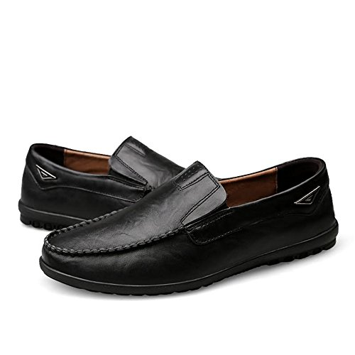 on Shoes Slip da Mocassini in Premium Pelle Uomo Scarpe da Driving Casual Slipper Fashion Nero Traspiranti Cricket AwYBzqXB