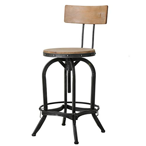 Sensational Christopher Knight Home Ck Home Indoor Barstools Brown Andrewgaddart Wooden Chair Designs For Living Room Andrewgaddartcom