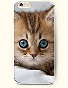 iPhone 6 Plus Case 5.5 Inches Cat with Blue Round Eye - Hard Back Plastic Case OOFIT Authentic