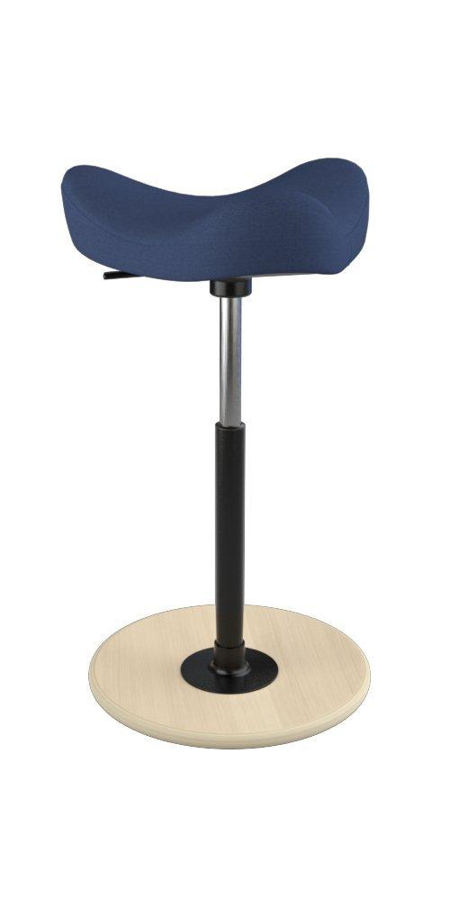 Varier Move Tilting Saddle Stool (Dark Blue Revive Fabric with Natural Ash Base)