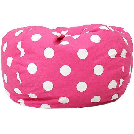 Classic Garbadine Bean Bag, Multiple Patterns (Polka Dots - Candy Pink)