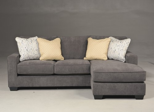 - Ashley Furniture Hodan Fabric 2 Piece Sectional in Marble