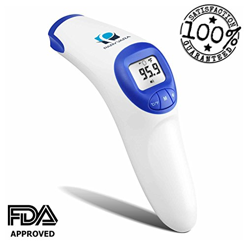 Digital Infrared Forehead Thermometer, Measure Room Temperature and Object (Baby Bottle). FDA Approved, Suitable for Baby, Toddlers and Adults