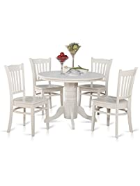 east west furniture shgr5whiw 5piece kitchen table and chairs set