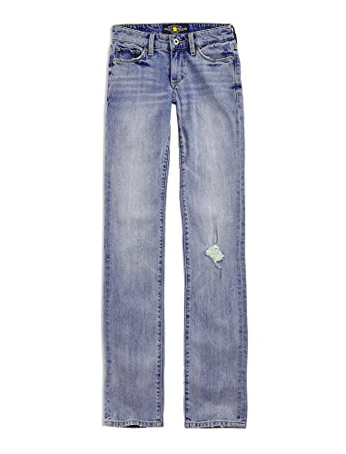 Denim Brand Lucky Trousers - Lucky Brand Women's The Sweet N' Straight Leg Denim Jeans Holbrook Blue Wash 30 (US 10)