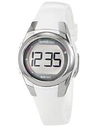 Armitron Women's 45/7021WHT Silver Tone and White Sparkle Digital Sport Watch