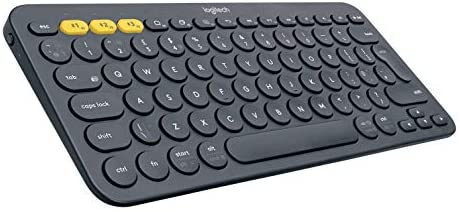 Logitech K380 Multi-Device Bluetooth Keyboard – Windows, Mac, Chrome OS, Android, iPad, iPhone, Apple TV Compatible – with Flow Cross-Computer Control and Easy-Switch as much as 3 Devices – Dark Grey