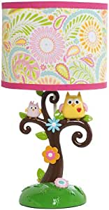 Kids Line Dena Happi Tree Lamp Base and Shade, Pink (Discontinued by Manufacturer)
