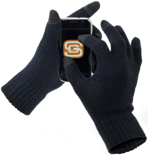 Screen Gloves, hochwertige Touchscreen Handschuhe, Bequeme Smartphone Gloves, Winterhandschuhe fürs Smartphone, Schwarz