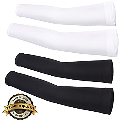 Compression Sports Arm Sleeve 99% UV Protection for Golf Weight Training Basketball Cycling Pain Injury Recovery, Helps protect arms from abrasions blisters