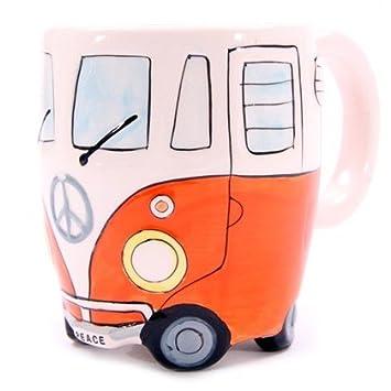 Wohnmobil Tasse in 4 versch. Farben, Farbe:orange: Amazon.de ...