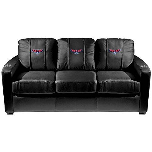 XZipit NBA Silver Sofa with Atlanta Hawks Logo Panel, Black