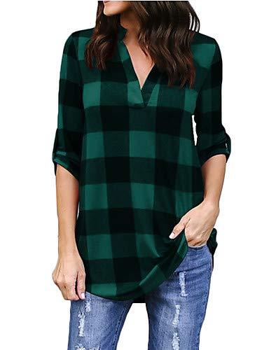 Cotone V Da A Donna Yfltz In Righe Fuchsia Camicia Scollo 0nWWgEa