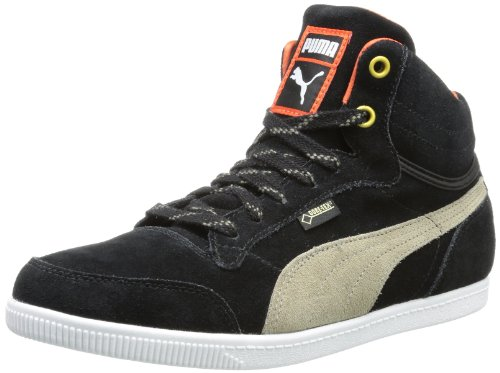 De Alta Glyde Puma Schwarz Wn's fallen Zapatillas Negro Court Caña Gtx® black 02 Rock Cuero Mujer XwdA0q