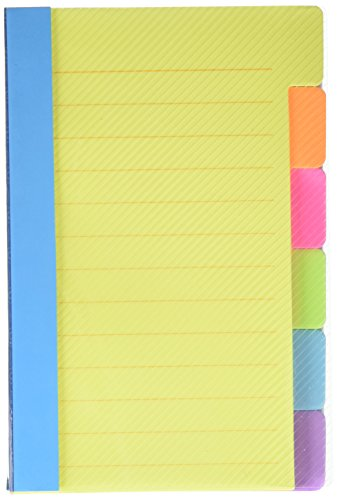 Redi-Tag Divider Sticky Notes 60 Ruled Notes, 4 x 6 Inches, Assorted Neon Colors (29500), 3-Pack ()