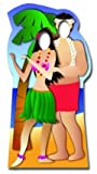 Hawaiian Couple Stand-in - Beach Party Lifesize Cardboard Cutout / Standee / Standup by Star Cutouts Ltd
