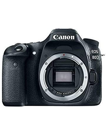 Canon EOS 80D Digital SLR 24.2 MP Camera Body Only with APS-C Sensor, 7 fps, Dual Pixel CMOS AF - Black