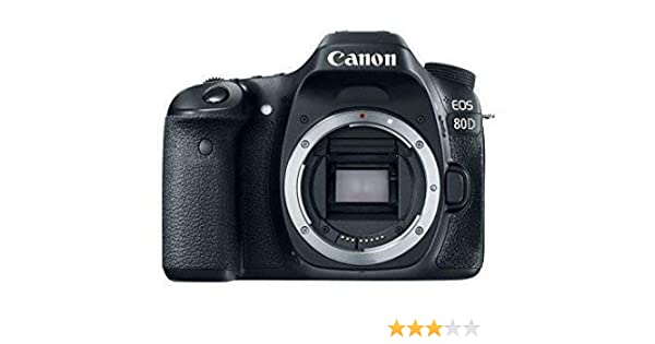 Canon EOS 80D Digital SLR 24.2 MP Camera Body Only with APS-C ...