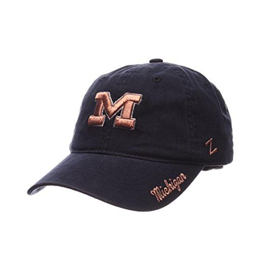 Zephyr NCAA Michigan Wolverines Women's Versailles Cap, Navy, Adjustable Baseball Metallic Hat