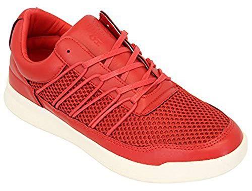 Jogging Merak Course Sport De Marche Chaussures Gym Crosshatch Cerise Maille Lacets À Baskets Hommes 8FExEO